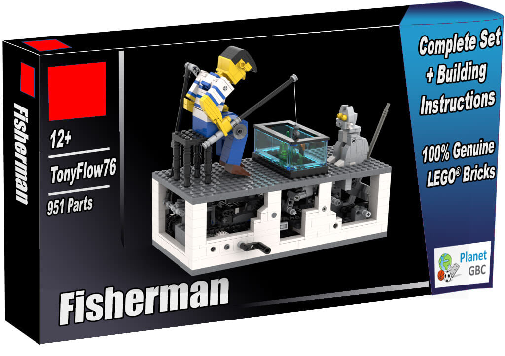 Buy this LEGO Automaton as a set with 100% genuine LEGO bricks | Fisherman from TonyFlow76 | Planet GBC | Build a MOC