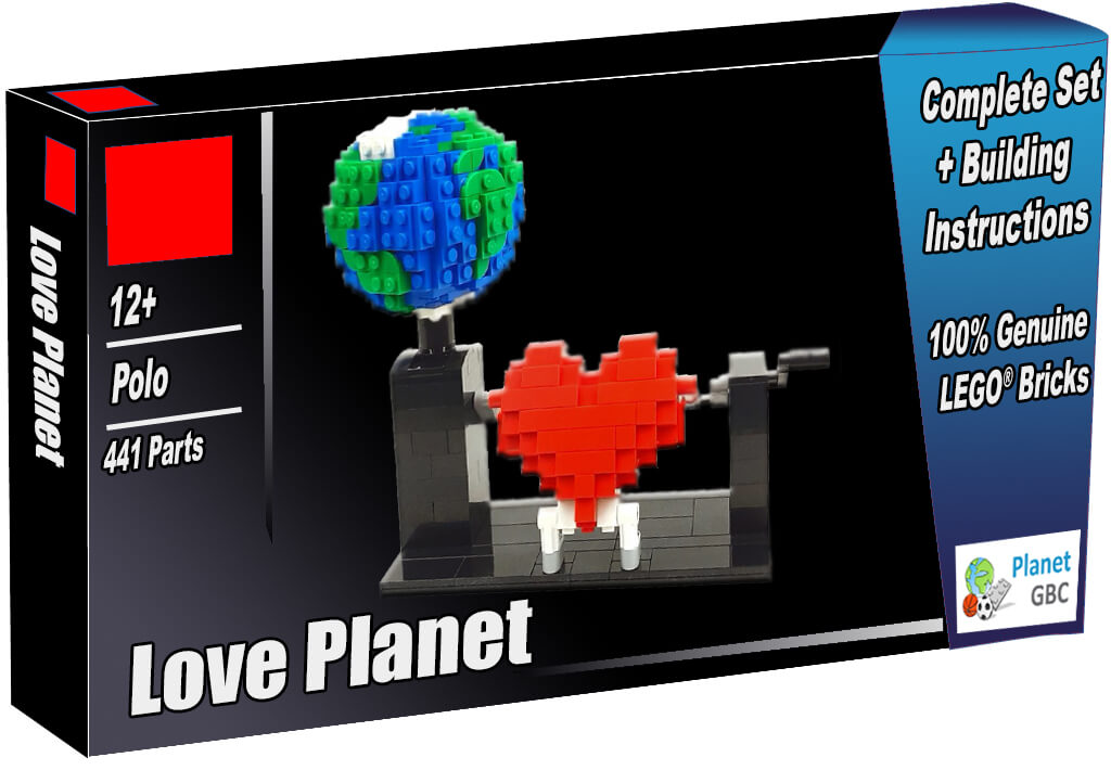 Buy this LEGO Automaton as a set with 100% genuine LEGO bricks | Love Planet from Polo| Planet GBC | Build a MOC