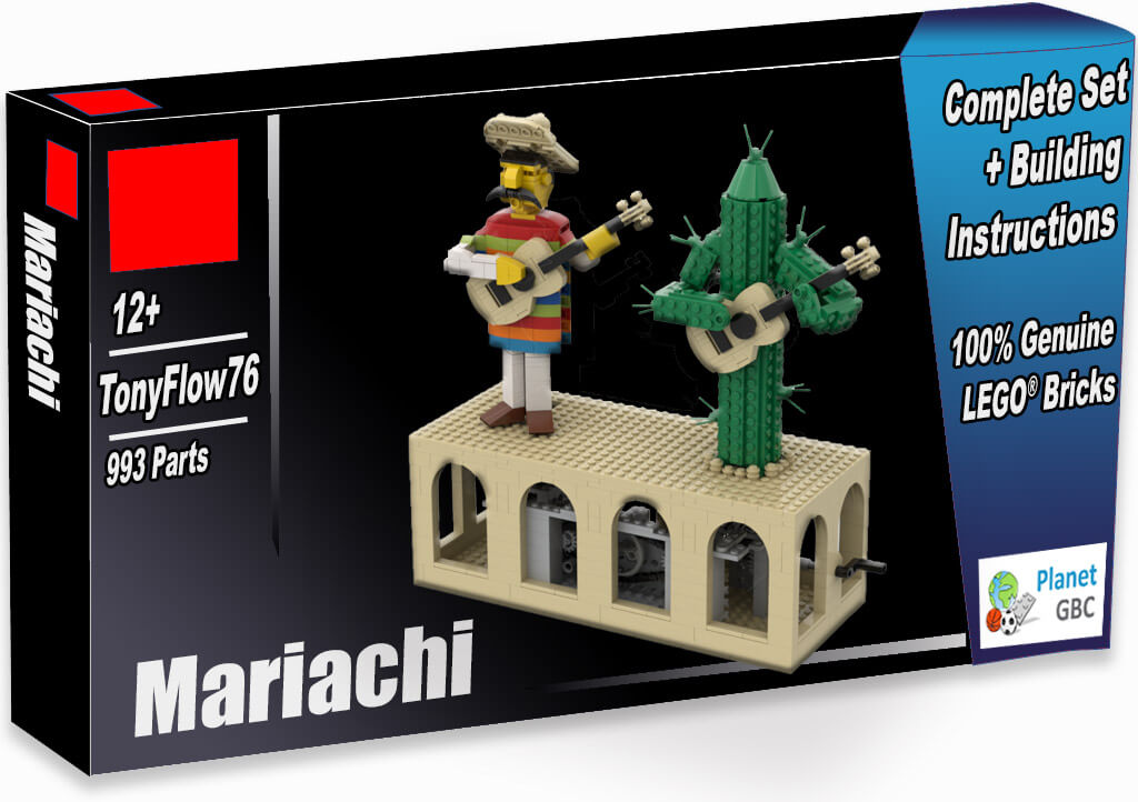 Buy this LEGO Automaton as a set with 100% genuine LEGO bricks | Mariachi from TonyFlow76 | Planet GBC | Build a MOC