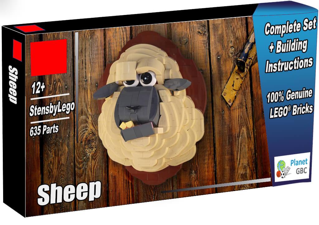 Acheter  ce MOC LEGO en boite avec 100% de vraies briques LEGO | Sheep de StensbyLego | Planet GBC | Build a MOC