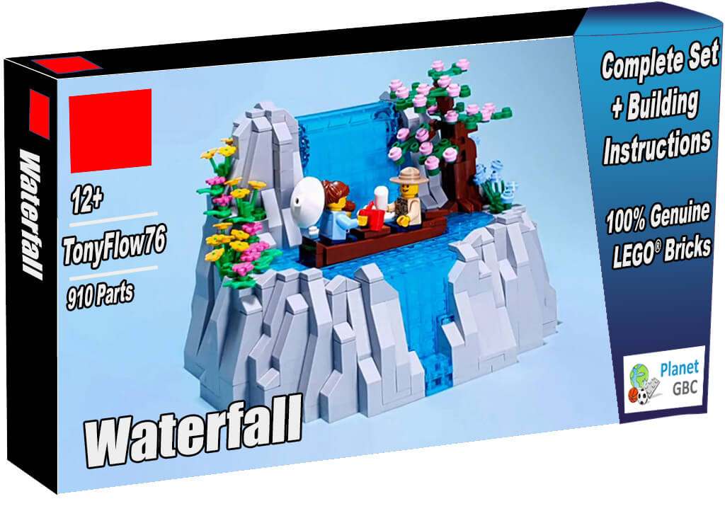 Buy this LEGO Automaton as a set with 100% genuine LEGO bricks | Waterfall from TonyFlow76 | Planet GBC | Build a MOC