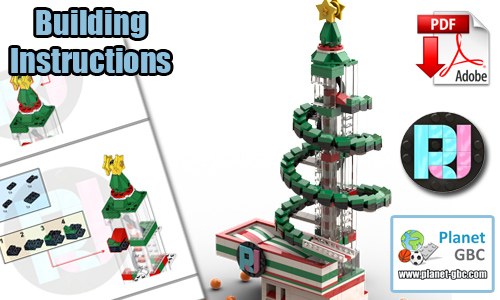 Buy NOW lego gbc pdf instructions on PayPal | Christmas Tree GBC from RJ BrickBuilds | Planet GBC
