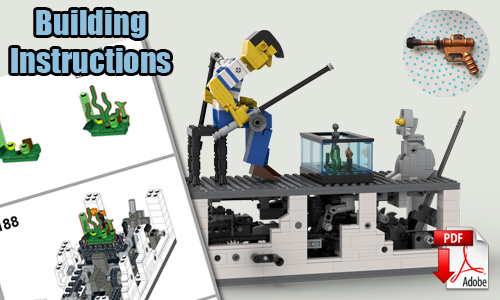 Buy NOW lego automaton pdf instructions on PayPal | Fisherman from TonyFlow76 | Planet GBC