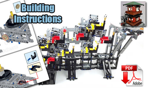 Buy NOW this LEGO GBC pdf instructions on PayPal | GBC Ball Rolling Machine 11 from Rimo Yaona | Planet GBC