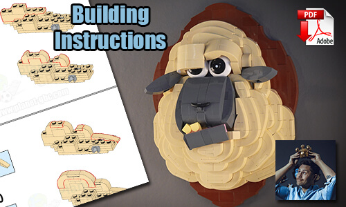 Buy NOW this MOC pdf instructions on PayPal | Sheep from StensbyLego | Planet GBC