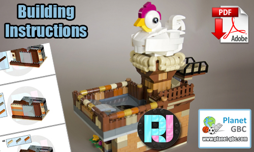 Buy NOW lego gbc pdf instructions on PayPal | Freakin Chicken from RJ BrickBuilds | Planet GBC