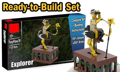 Buy NOW this Automaton as LEGO Set, with 100% genuine LEGO bricks, on BuildaMOC website   Explorer from TonyFlow76   Planet GBC
