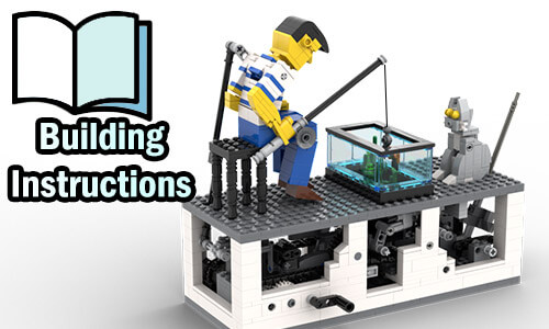 Buy NOW pdf building instructions on PayPal for this LEGO Automaton | Fisherman from TonyFlow76 | Planet GBC