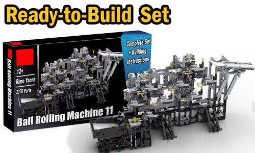 Buy NOW this LEGO Great Ball Contraction GBC as LEGO Set, with 100% genuine LEGO bricks, on BuildaMOC website | Ball Rolling machine 11 from Rimo Yaona | Planet GBC