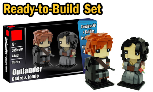 Buy NOW this LEGO figures as LEGO Set, with 100% genuine LEGO bricks, on BuildaMOC website | Outlander figurines - Claire and Jamie Fraser from Polo | Planet GBC