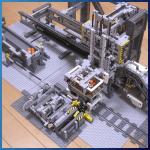 LEGO GBC Module: Automatic Crane Loader for GBC Train from Akiyuki - LEGO Great Ball Contraption - Planet-GBC