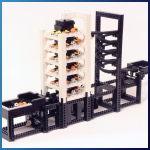 LEGO GBC Module: Spiral Staircase from Akiyuki - LEGO Great Ball Contraption - Planet-GBC