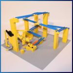 LEGO GBC Module: GBC Lift Module from PV-Productions - LEGO Great Ball Contraption - Planet-GBC
