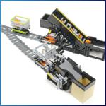 LEGO GBC Module: Railway System Reverse module V-type from Akiyuki - LEGO Great Ball Contraption - Planet-GBC
