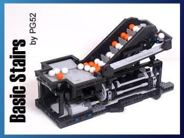 LEGO Great Ball Contraption | LEGO GBC module Basic Stairs | PG52 | Planet GBC