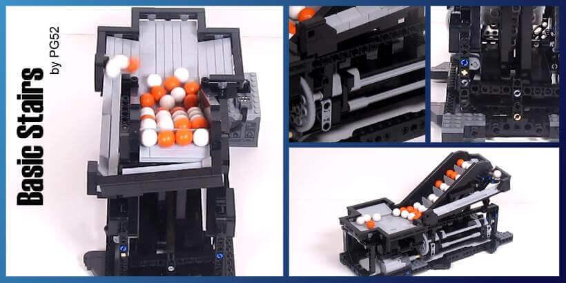LEGO Great Ball Contraption | LEGO GBC module Basic Stairs | PG52 | Planet GBC