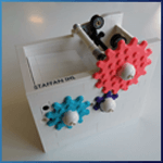 GBC Module: Splat Gear Sweeper from Stork - LEGO Great Ball Contraption - Planet-GBC