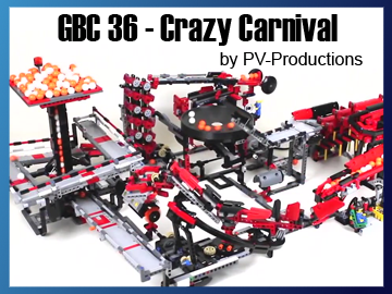 Great Ball Contraption - GBC 36 - Crazy Carnival sur Planet GBC