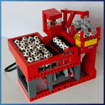 Module GBC: Emmets Crane de Pinwheel  - LEGO Great Ball Contraption - Planet-GBC