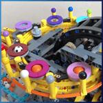 LEGO GBC Module: Birthday Cake from Tomas Ullrich - LEGO Great Ball Contraption - Planet-GBC