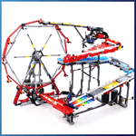 LEGO GBC Module: GBC 38 - Funky Ferris Wheel from PV-Productions - LEGO Great Ball Contraption - Planet-GBC