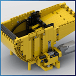 LEGO GBC Module: The Dumpster from Stork - LEGO Great Ball Contraption - Planet-GBC