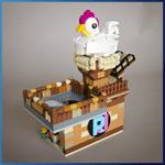 GBC Module: Freakin Chicken from RJ BrickBuilds - LEGO Great Ball Contraption - Planet-GBC
