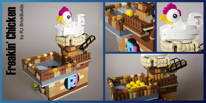 LEGO GBC - Freaking Chicken - RJ Brickbuilds - LEGO Building Instructions available on Planet GBC