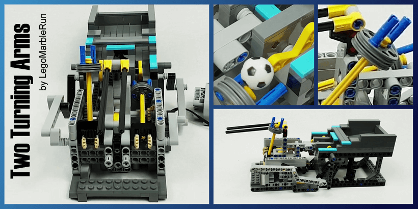 LEGO GBC - Two turning Arms - LEGO Building Instructions available on Planet GBC