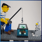 LEGO Automaton: Fisherman from TonyFlow76 - LEGO Great Ball Contraption - Planet-GBC