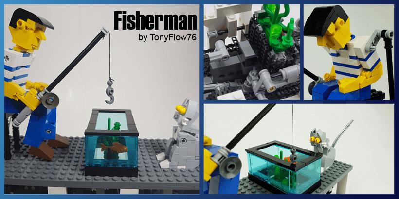 LEGO Automaton - Fisherman - LEGO Building Instructions and LEGO Set available on Planet GBC