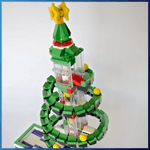 GBC Module: Christmas Tree GBC from RJ BrickBuilds - LEGO Great Ball Contraption - Planet-GBC