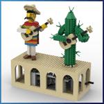LEGO Automaton: Mariachi from TonyFlow76 - LEGO Great Ball Contraption - Planet-GBC