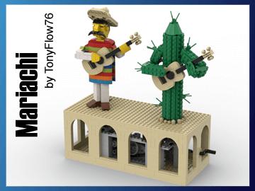 LEGO Automaton - Mariachi - LEGO Building Instructions and LEGO Set available on Planet GBC