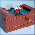 LEGO Automaton: Ship at Sea from TonyFlow76 - LEGO Great Ball Contraption - Planet-GBC