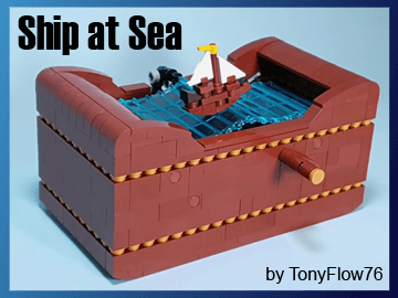 LEGO Automaton - Ship at Sea- LEGO Building Instructions and LEGO Set available on Planet GBC