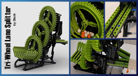 LEGO GBC - Tri Wheel Lane Splitter, by Stork | Planet GBC