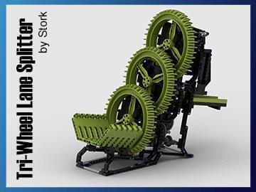 LEGO Great Ball Contraption | LEGO GBC module Tri Wheel Lane Splitter | Stork | Planet GBC