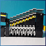 Module LEGO GBC: Classic Boxer Motor Stepper de mickthebricker - LEGO Great Ball Contraption - Planet-GBC