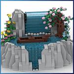LEGO Automaton: Waterfall from TonyFlow76 - LEGO Great Ball Contraption - Planet-GBC