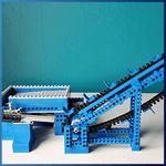 LEGO GBC Module: Blue Vintage Conveyor Belt from mickthebricker - LEGO Great Ball Contraption - Planet-GBC