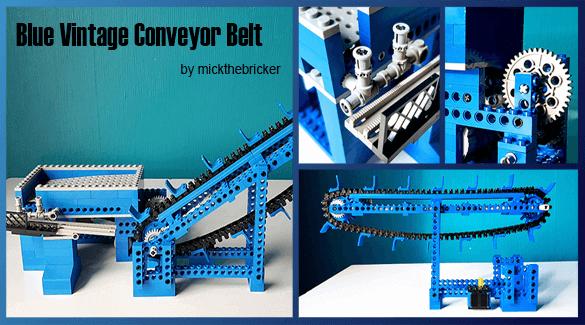 LEGO GBC - Blue Vintage Conveyor Belt, by mickthebricker   Planet GBC