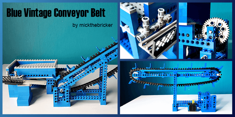LEGO GBC - Blue Vintage Conveyor Belt, by mickthebricker | Planet GBC