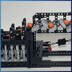 Module LEGO GBC: Squared de Pinwheel  - LEGO Great Ball Contraption - Planet-GBC