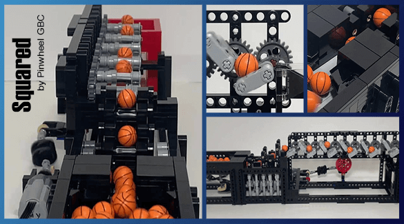 LEGO Great Ball Contraption- Building Instructions - Squared - Pinwheel GBC