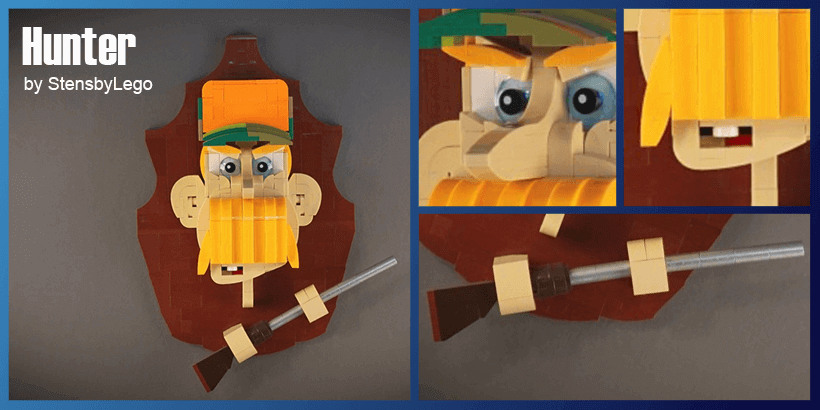 LEGO MOC - Hunter Trophy (Taxidermy) - building instructions and LEGO kit - StensbyLego - Planet GBC