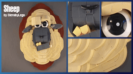 LEGO MOC - Sheep Trophy (Taxidermy) - building instructions and LEGO kit - StensbyLego - Planet GBC