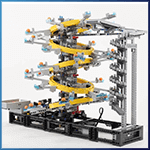 LEGO GBC Module: Five Tilted Rings from Akiyuki - LEGO Great Ball Contraption - Planet-GBC