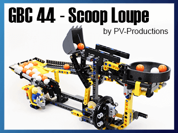 LEGO GBC Scoop Loupe - great ball Contraption module from LEGO set 42121 - Heavy-Duty Excavator - PV Productions | planet GBC
