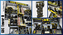 LEGO Great Ball contraption (LEGO GBC) - from Diego Baca - GBC Tower II is the biggest and tallest marble run machine in the world - free building instructions available - Planet GBC